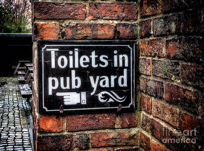 Pub Sign Art Print by Adrian Evans