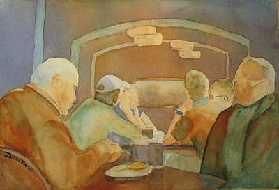 Pub Talk II Art Print by Jenny Armitage
