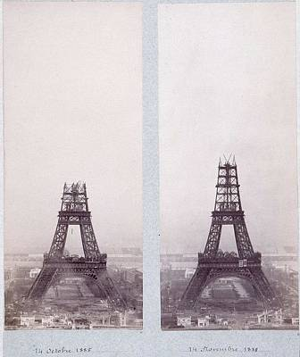 Paris Skyline Royalty-Free and Rights-Managed Images - Public-domain-images-eiffel-tower-construction-1800s-0003 by Celestial Images