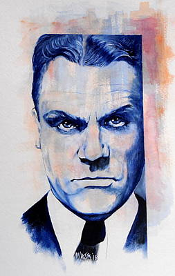 Painting - Public Enemy - Jimmy Cagney by William Walts