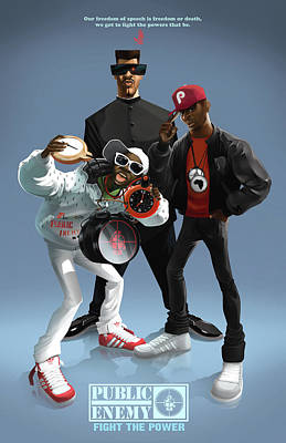 Shoes Digital Art - Public Enemy by Nelson Garcia