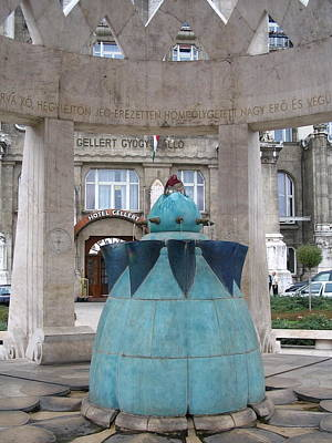 Budapest Hungary Hotels Photograph - Public Fountain by Jennifer Albee