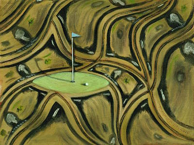 Print featuring the painting Tax Payer Funded Golf Courses Art Print by Tommervik