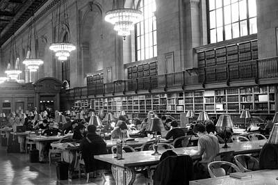 Photograph - Public Library Reading Room by Dave Beckerman