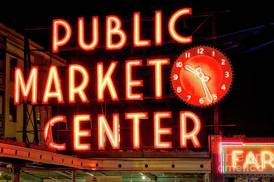 Photograph - Public Market Center, Seattle by Jerry Fornarotto