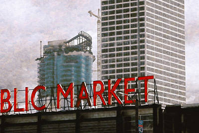 Digital Art - Public Market by David Blank