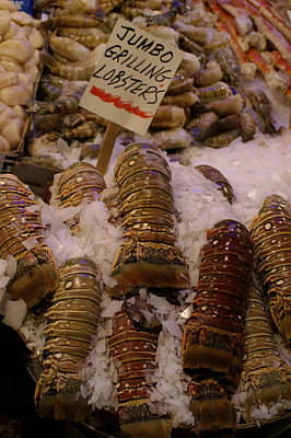Photograph - Public Market Lobster Tails by Henri Irizarri