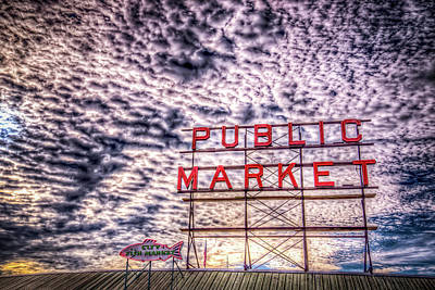 Photograph - Public Market Sky by Spencer McDonald