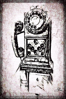 Digital Art - Public Pay Telephone by Joan Reese