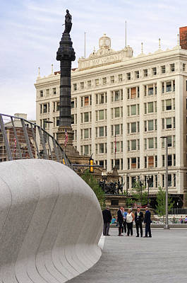Photograph - Public Square Re-opening by Stewart Helberg