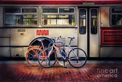 Art Print featuring the photograph Public Tier Bicycles by Craig J Satterlee