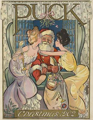 Painting - Puck Christmas 1902 by Puck Artist