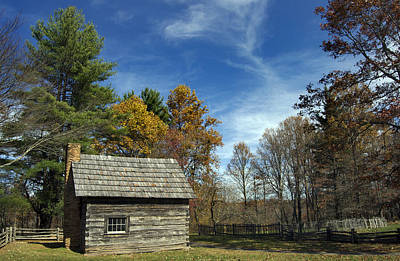 Pucketts Photograph - Puckett Cabin Va by Skip Willits