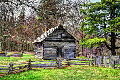 Pucketts Photograph - Puckett's Cabin by Dale R Carlson