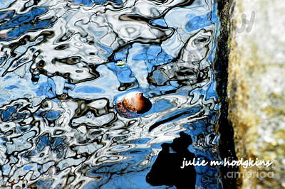 Puddle Art Art Print by Julie Hodgkins