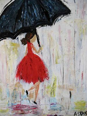 Youthful Painting - Puddle Jumping by Arianna Stone