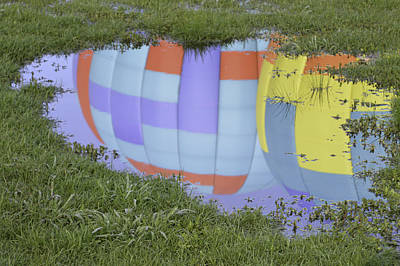 Puddle Reflections Art Print