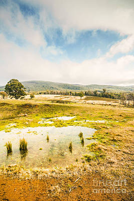 Photograph - Puddled Fields And Distant Hills by Jorgo Photography - Wall Art Gallery