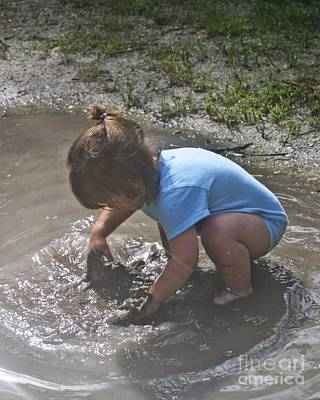 Photograph - Puddles And Kids by Dodie Ulery