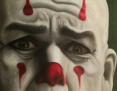 Sad Clown Painting - Puddles by SarahjewelAZ SarahjewelAZ