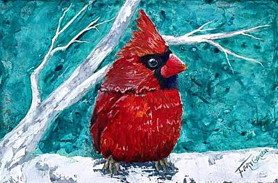Painting - Pudgy Cardinal by T Fry-Green