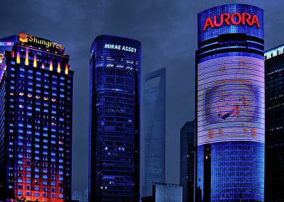 Night Scenes Photograph - Pudong - Epitome Of Shanghai's Modernization by Christine Till