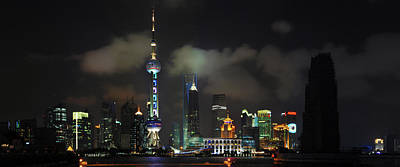 Photograph - Pudong At Night by Jason Chu