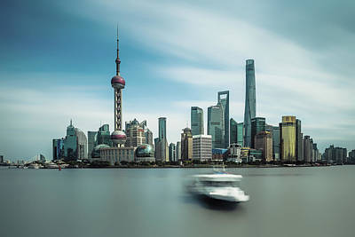 Photograph - Pudong, Study #1 by Yancho Sabev