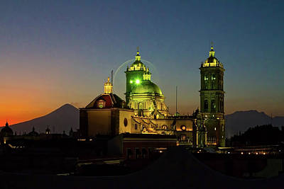 Clouds Royalty Free Images - Puebla Cathedral for BB Royalty-Free Image by Agustin Uzarraga