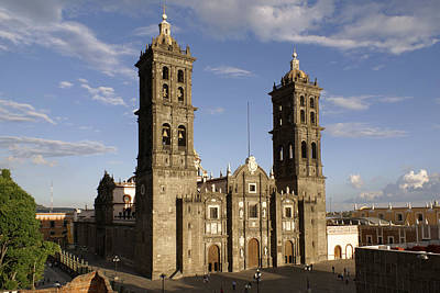 Puebla Cathedral Horizontal Mexico Art Print
