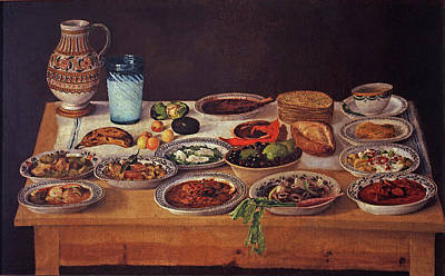 Painting - Puebla Kitchen by Anonymous  Painter