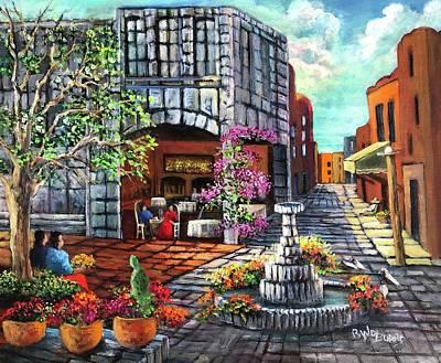 Painting - Puebla La Ciudad De La Belleza by Randy Burns