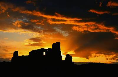 Pueblo Abo Ruins Print by Dean Leh