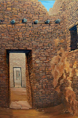 Surrealistic Painting - Pueblo Bonito by Michael Cranford