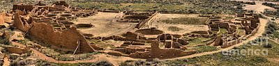 Photograph - Pueblo Bonito Panorama At Chaco Canyon by Adam Jewell