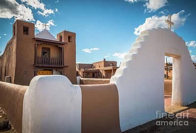 Photograph - Pueblo De Taos Church by Inge Johnsson