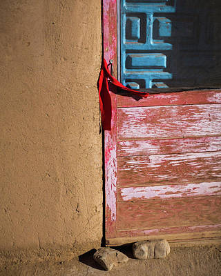 Red Doors Photograph - Pueblo Door by Joseph Smith