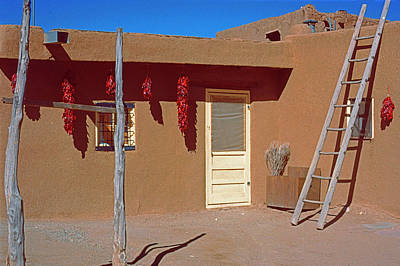 Ira Marcus Royalty-Free and Rights-Managed Images - Pueblo Home With Yellow Door by Ira Marcus