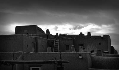 Photograph - Pueblo In A Storm by Nadalyn Larsen