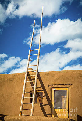 Photograph - Pueblo Ladder by Inge Johnsson