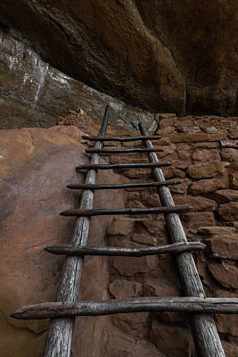 Mesa Verde Photograph - Pueblo Ladder by Joseph Smith