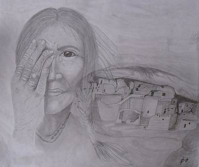 Pueblo Drawing - Pueblo Memories by Rhonda Kepner
