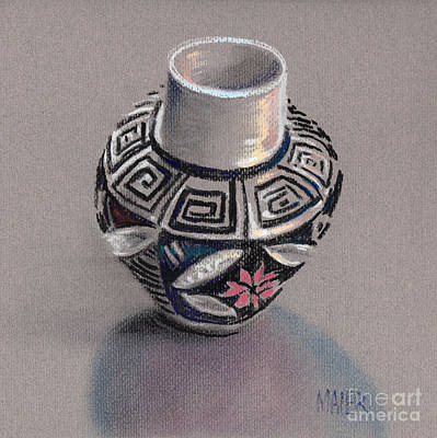 Pueblo Drawing - Pueblo Seed Jar by Donald Maier
