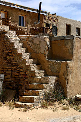 Photograph - Pueblo Stairway by Joe Kozlowski