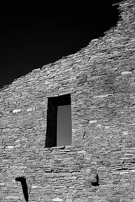 Chaco Canyon Photograph - Pueblo Wall by Joseph Smith