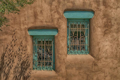 Photograph - Pueblo Windows Nm Horizontal Img_8336 by Greg Kluempers