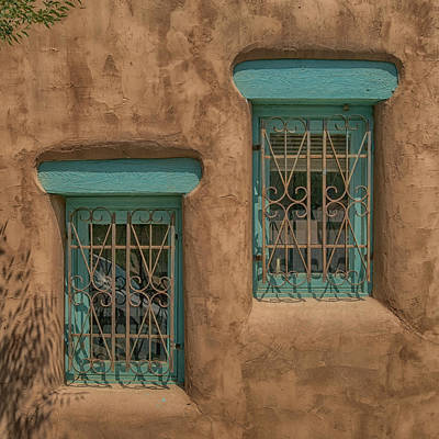 Photograph - Pueblo Windows Nm Square Img_8336 by Greg Kluempers