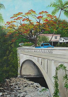 Puente En Adjuntas Art Print by Gloria E Barreto-Rodriguez