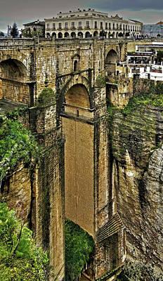 Photograph - Puente Nuevo - Parador De Ronda by Juergen Weiss