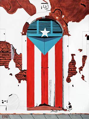 Puerta Bandera Puerto Rico Original by Edwin Rivera